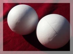 Polystyrenové koule plné a plněné Průměr 5 cm - polystyren